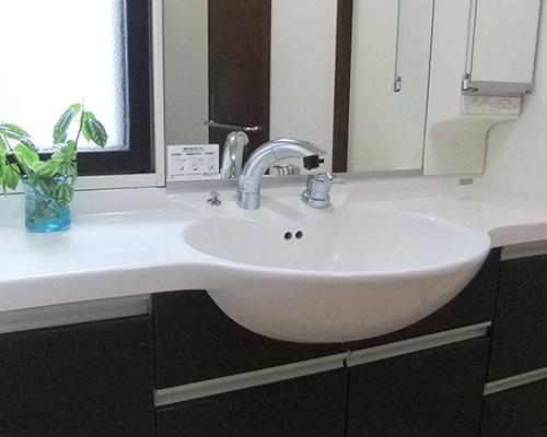洗面所の工事
