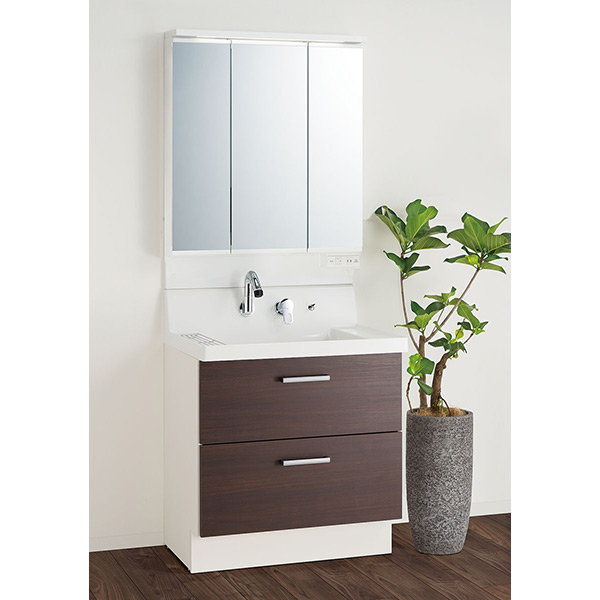 LIXIL ピアラ(LIXIL)洗面化粧台AR3H-755SY &ピアラ MAR2-753TXSU(ミラーキャビネット)