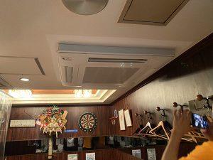 空調機更新(室内機・室外機) 都内飲食店(スナック) 東京都渋谷区